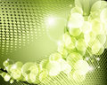 Elegant green background poster Royalty Free Stock Image