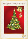 Elegant greeting card for Christmas and New Year