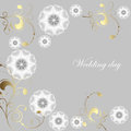 Elegant greeting card with flowers Royalty Free Stock Image