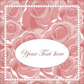 Elegant greeting card with roses Royalty Free Stock Photo