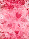 Elegant hearts background Royalty Free Stock Images