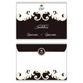 Elegant horizontal VIP envelope. It is executed in the Victorian style with a leaf ornament. Suitable for the design of invitation Royalty Free Stock Photo