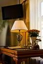 Elegant hotel suite desk Royalty Free Stock Photo