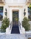 Elegant house entrance with metallic door, Athens  Greece