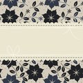 Elegant lace frame with flowers, leaves and stars Royalty Free Stock Photo