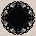 Elegant lacy doily for scrapbooks Royalty Free Stock Photos