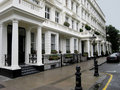 Elegant London Townhouses Stock Image