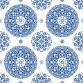 Elegant mediterranian vintage seamless pattern