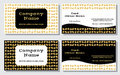 Elegant and modern business card. The refined design. A beautiful combination of gold, yellow, white and black colors Royalty Free Stock Photo