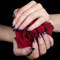 Elegant nail design Royalty Free Stock Images