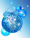 Elegant New Year background with clock Stock Image