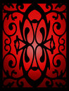 Elegant ornament in stained glass window Royalty Free Stock Photo