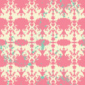 Elegant paint splatter seamless pattern an on a pink background with green splatters Royalty Free Stock Images