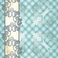 Elegant pale blue Rococo background with ornament