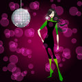 Elegant party girl Royalty Free Stock Image