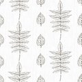 Elegant pattern with leafs drawn in thin lines simple black and white seamless vector texture for web print wallpaper wrapping Stock Images