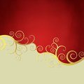 Elegant red and beige background Stock Photography