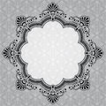 Elegant round decorative gray label copy space Stock Photo