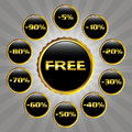 Elegant sale badges Royalty Free Stock Photos