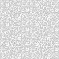 Elegant seamless floral background, shades of gray Royalty Free Stock Photo