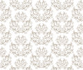 Elegant Seamless Pattern of Floral Vintage CLassic Vines Royalty Free Stock Photo