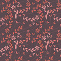 Elegant seamless pattern with plants, leaves and flowers Royalty Free Stock Photo