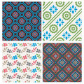 Elegant seamless pattern set Royalty Free Stock Photography