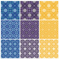 Elegant seamless patterns Stock Images