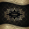 Elegant seamless wallpaper with vintage frame can be used as invitation luxury design Stock Photo