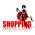 Elegant shopping woman Royalty Free Stock Images