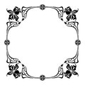 Elegant silhouette frame in art nouveau style Royalty Free Stock Photo