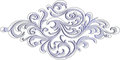 Elegant silver decoration element with floral pattern for invita