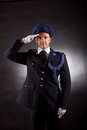 Elegant soldier wearing uniform in studio Stock Photos