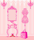 Elegant style dressing room illustration Royalty Free Stock Images