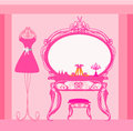 Elegant style dressing room illustration Stock Image