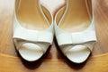 Elegant and stylish bridal shoes photot of Royalty Free Stock Photo