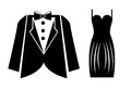 Elegant suits over white background vector illustration Royalty Free Stock Photography