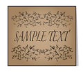 Elegant text frame. Floral vintage hand drawn vignettes. Beautif Royalty Free Stock Photo