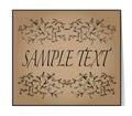 Elegant text frame. Floral vintage hand drawn vignettes. Beautif Royalty Free Stock Photo