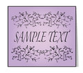 Elegant text frame. Floral vintage hand drawn vignettes. Royalty Free Stock Photo