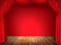 Elegant theater red curtains Royalty Free Stock Photo