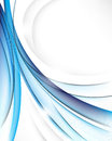Elegant transparent blue waves background Stock Image