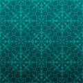 Elegant turquoise green background made floral decorative pattern Royalty Free Stock Photos