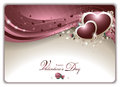 Elegant valentine s card vector illustration representing an valentines with shining hearts roses buds colorful circles and other Stock Photos