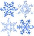 Elegant Victorian Snowflakes/ai
