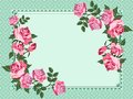 Elegant vintage background with place for your text beautiful roses and space Royalty Free Stock Images