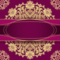 Elegant vintage floral background with baroque frame Stock Photo