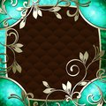 Elegant vintage rococo frame in dark green Stock Photos