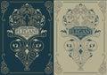 Elegant vintage template variants for decor, invitation, design element. eps 10