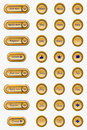 Elegant web buttons a beautiful series of gold and royal blue Royalty Free Stock Photography